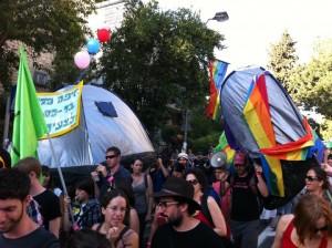 Jerusalem Pride in mitten der Sozialproteste im Sommer 2011. Foto: Marc Berthold