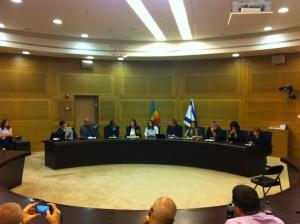Anhörung zu LGBTI-Rechten in der Knesset, Mai 2012.