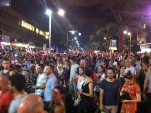 Großdemonstration für Sozialegerechtigkeit, Tel Aviv, September 2011.