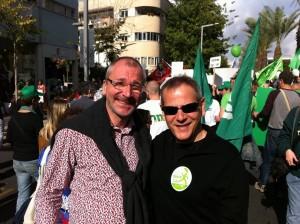 Volker Beck und Nitzan Horowitz. Vorkämpfer für LGBTI-Rechte in Deutschland und Israel. Foto: Marc Berthold