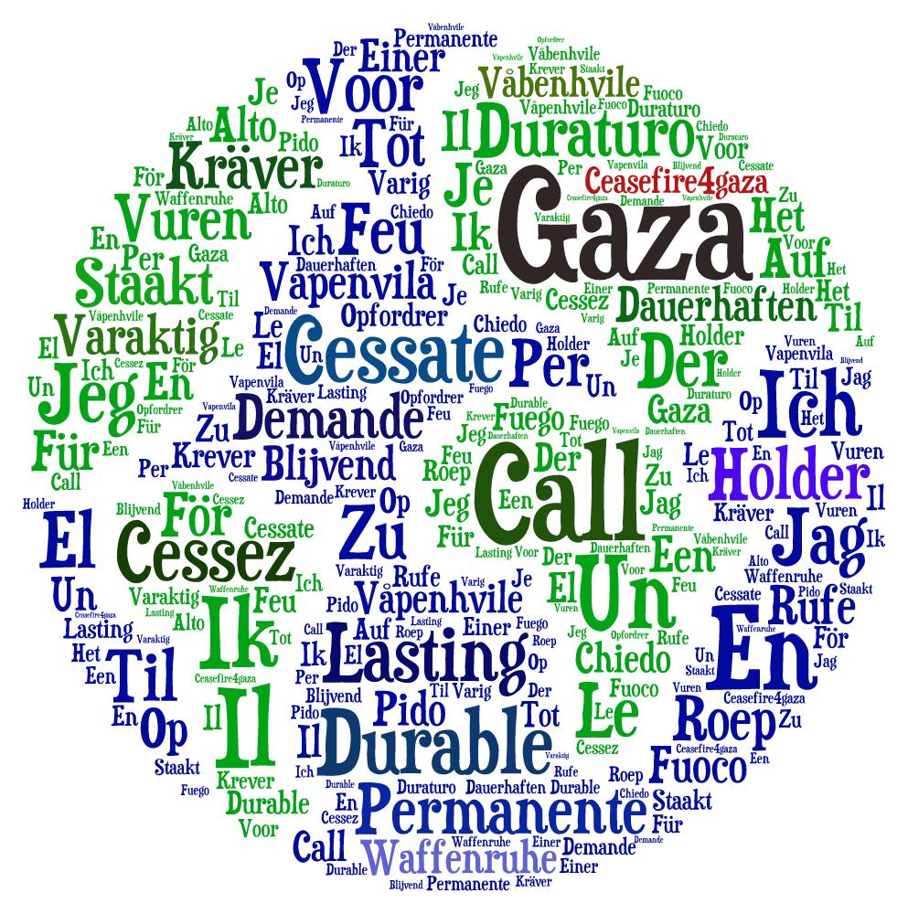square globe ceasefire4gaza