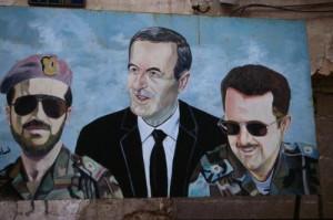 Die Dreifaltigkeit: Bassel, Hafez und Bashar al-Assad {c} qifanabki.com