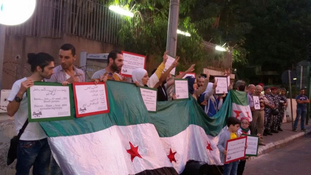 Protest vor der russischen Botschaft in Beirut (c) Alisha Molter