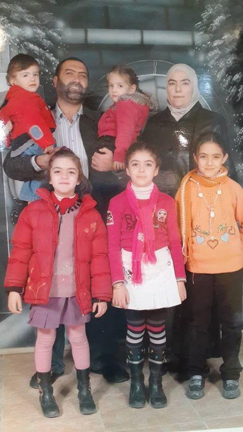 Die syrische Schachmeisterin Dr. Rania Abbasi, ihr Ehemann und beider Kinder: Dima, Intisar, Alaa, Najah, Ahmed, auch verhaftet: Layan (nicht im Bild)