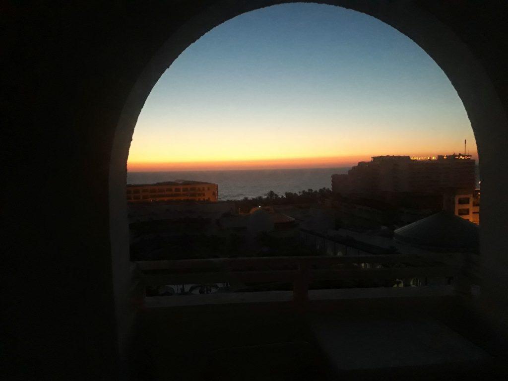 Sonnenuntergang an Tag 4